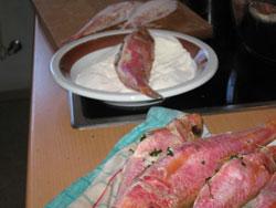 frittierte champignons in bierteig